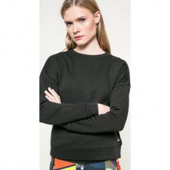 Reebok - Bluza. Czarne bluzy damskie Reebok, z bawełny. W wyprzedaży za 129.90 zł.
