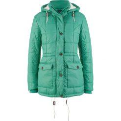 Kurtka pikowana z kapturem bonprix zielony szałwiowy. Zielone kurtki damskie bonprix. Za 139.99 zł.