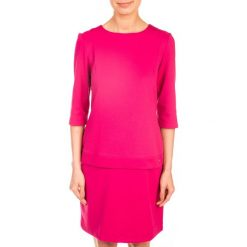 SUKIENKA LOVELY PINK QUIOSQUE. Czerwone sukienki damskie QUIOSQUE, z dzianiny, biznesowe. W wyprzedaży za 49.99 zł.
