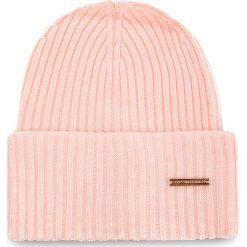 Czapka TRUSSARDI JEANS - Hat Rib-Knitted 59Z00079 P050. Czerwone czapki i kapelusze damskie TRUSSARDI JEANS, z jeansu. Za 189.00 zł.