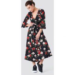 a562d3ab8e Sukienka maxi kwiaty długi rękaw - Sukienki damskie - Kolekcja ...