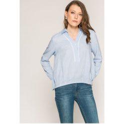 Answear - Bluzka Yasmine. Szare bluzki damskie ANSWEAR, z poliesteru, casualowe, z krótkim rękawem. W wyprzedaży za 49.90 zł.