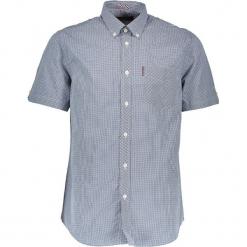 """Koszula """"Gingham"""" - Regular fit - w kolorze niebiesko-białym. Białe koszule męskie Ben Sherman, w kratkę, z bawełny, button down. W wyprzedaży za 130.95 zł."""