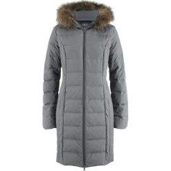 Lekki płaszcz puchowy pikowany bonprix dymny szary. Płaszcze damskie marki FOUGANZA. Za 249.99 zł.
