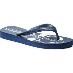 Japonki CALVIN KLEIN JEANS - Paulina R8948 Steel Blue. Niebieskie klapki damskie Calvin Klein Jeans, z jeansu. Za 159.90 zł.