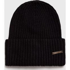 Trussardi Jeans - Czapka. Czarne czapki i kapelusze damskie TRUSSARDI JEANS, z dzianiny. Za 189.90 zł.
