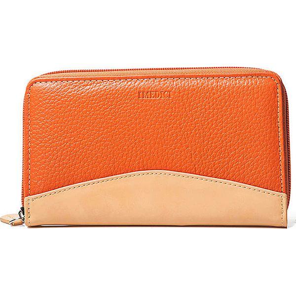 b68ab78c5a0f1 Skórzany portfel w kolorze pomarańczowym - 18