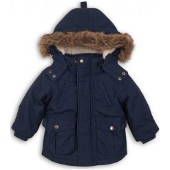 Minoti Chłopięcy Płaszcz Parka 86/92 Niebieski. Niebieskie kurtki i płaszcze dla chłopców Minoti, na zimę. Za 155.00 zł.