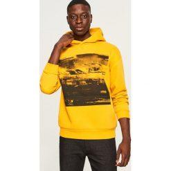 Bluza z kapturem - Żółty. Żółte bluzy męskie Reserved. Za 119.99 zł.