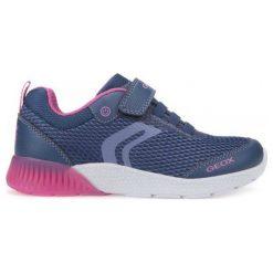Geox Tenisówki Dziewczęce Sveth 28 Niebieski. Niebieskie buty sportowe dziewczęce Geox, na lato. W wyprzedaży za 169.00 zł.