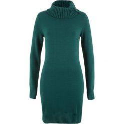 Długi sweter bonprix głęboki zielony. Swetry damskie marki bonprix. Za 89.99 zł.
