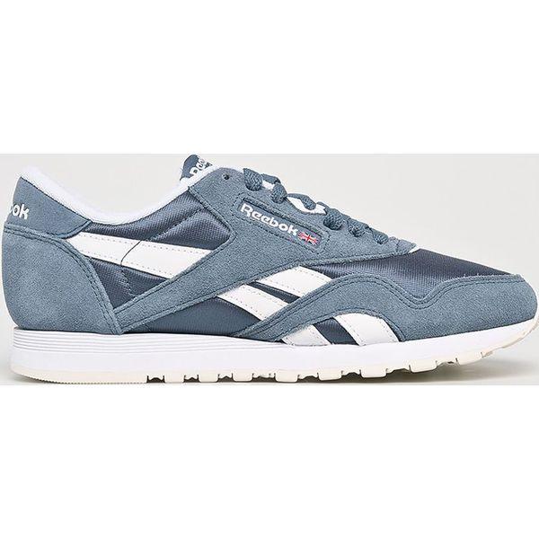 1630b90ac549f6 Reebok Classic - Buty Cl Nylon - Niebieskie obuwie sportowe damskie ...