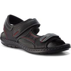 Sandały LANETTI - MSA426-1 Czarny. Czarne sandały męskie Lanetti, z materiału. Za 89.99 zł.
