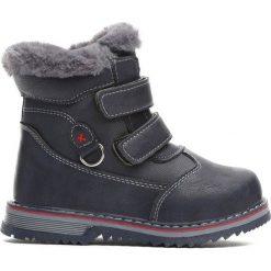 Granatowe Traperki Nonrural. Niebieskie buty zimowe chłopięce Born2be, z materiału. Za 59.99 zł.