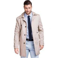 Płaszcz PIETRO 2 PSES000002. Brązowe płaszcze męskie Giacomo Conti, na lato, z aplikacjami. Za 599.00 zł.