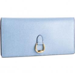 Duży Portfel Damski LAUREN RALPH LAUREN - Bennington 432688519014  Blue. Niebieskie portfele damskie Lauren Ralph Lauren, ze skóry. Za 569.00 zł.