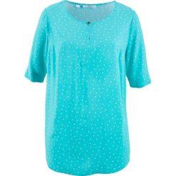 Bluzka, krótki rękaw bonprix morski wzorzysty. Niebieskie bluzki damskie bonprix, z krótkim rękawem. Za 37.99 zł.
