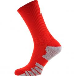Skarpety piłkarskie - MA732012HRD. Czerwone skarpety męskie New Balance, z bawełny. Za 49.99 zł.