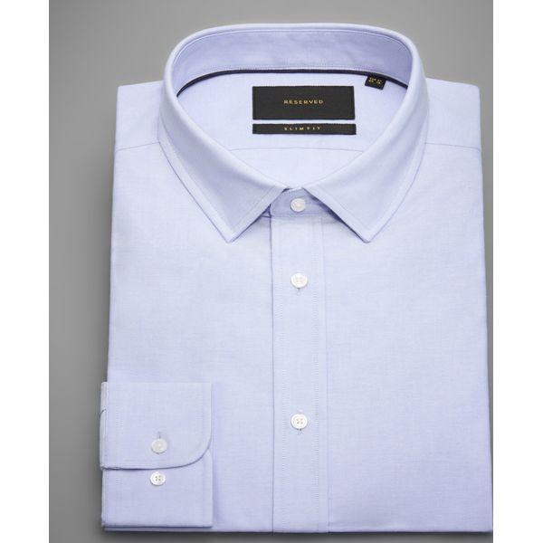 05e805ccb Bawełniana koszula slim fit - Niebieski - Koszule męskie marki ...