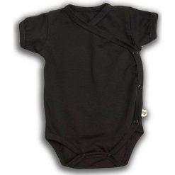 Body kimono z krótkim rękawem Czarna Owca r. 68cm (NCO-02). Czarne body niemowlęce Nanaf Organic, z krótkim rękawem. Za 42.29 zł.