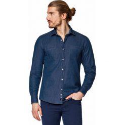 Koszula Jeansowa Niebieska Francis. Niebieskie koszule męskie LANCERTO, z bawełny, z klasycznym kołnierzykiem. W wyprzedaży za 199.90 zł.