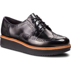 Oxfordy CLARKS - Teadale Maira 261363544 Black Leather. Czarne półbuty damskie Clarks, ze skóry. W wyprzedaży za 229.00 zł.