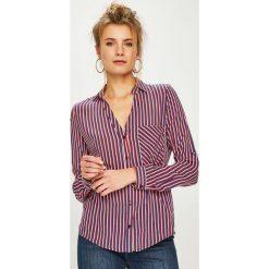 Answear - Koszula. Szare koszule damskie ANSWEAR, z tkaniny, casualowe, z długim rękawem. Za 129.90 zł.