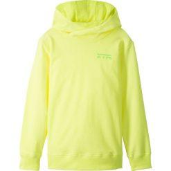 Bluza z kapturem bonprix żółty neonowy z nadrukiem. Bluzy dla chłopców bonprix, z nadrukiem. Za 37.99 zł.