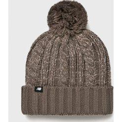 New Balance - Czapka. Szare czapki i kapelusze damskie New Balance, z dzianiny. Za 99.90 zł.