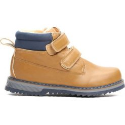 Camelowe Traperki Take Place. Brązowe buty zimowe chłopięce Born2be, z materiału. Za 69.99 zł.