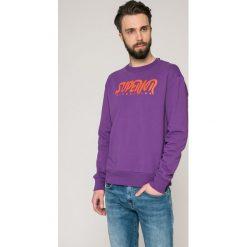 Diesel - Bluza. Różowe bluzy męskie Diesel, z nadrukiem, z bawełny. W wyprzedaży za 269.90 zł.