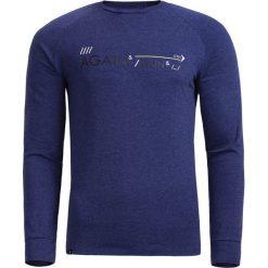 Longsleeve męski TSML600 - granatowy melanż - Outhorn. Niebieskie bluzki z długim rękawem męskie Outhorn, melanż, z bawełny. W wyprzedaży za 34.99 zł.