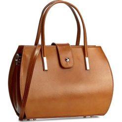 Torebka CREOLE - RBI10157 Koniak. Brązowe torby na ramię damskie Creole. W wyprzedaży za 269.00 zł.