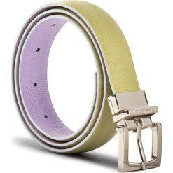 Pasek Damski TRUSSARDI JEANS - Belt Leather 75L00037 75 G140. Fioletowe paski damskie TRUSSARDI JEANS, w paski, z jeansu. W wyprzedaży za 209.00 zł.