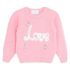 Różowy Sweter Meekness. Czerwone swetry dla dziewczynek Born2be, na jesień. Za 69.99 zł.