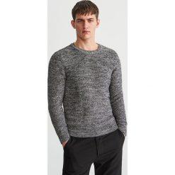 Sweter z bawełny organicznej - Szary. Swetry przez głowę męskie marki Giacomo Conti. Za 119.99 zł.