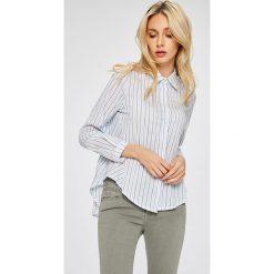 Answear - Koszula Stripes Vibes. Szare koszule damskie ANSWEAR, w paski, z bawełny, casualowe, z klasycznym kołnierzykiem, z długim rękawem. W wyprzedaży za 69.90 zł.