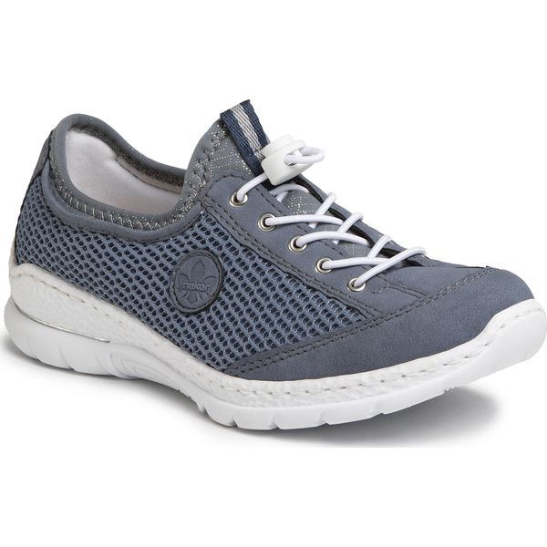 Sneakersy RIEKER N7025 14 Blau Sneakersy Półbuty