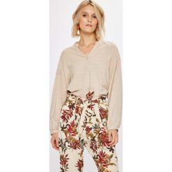 Answear - Koszula. Szare koszule damskie ANSWEAR, z bawełny, ze stójką, z długim rękawem. W wyprzedaży za 69.90 zł.