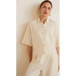 Mango - Koszula Ines. Szare koszule damskie Mango, z krótkim rękawem. Za 139.90 zł.
