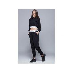 Dresowe bawełniane spodnie H002 czarne. Szare spodnie dresowe damskie Harmony, z bawełny. Za 175.00 zł.