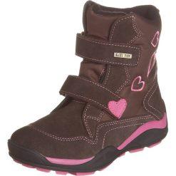 Skórzane botki w kolorze brązowym. Botki dziewczęce Zimowe obuwie dla dzieci. W wyprzedaży za 142.95 zł.