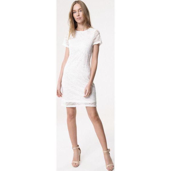 6b8c59e821 Biała Sukienka Loose Fitting - Sukienki dla dziewczynek marki ...