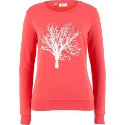 Bluza z motywem drzewa bonprix koralowy z nadrukiem. Bluzy damskie marki KALENJI. Za 69.99 zł.