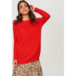 Długi sweter - Czerwony. Czerwone swetry damskie Reserved. Za 69.99 zł.