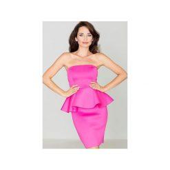 Sukienka K283 Fuksja. Czerwone sukienki damskie Katrus, z gorsetem. Za 139.00 zł.