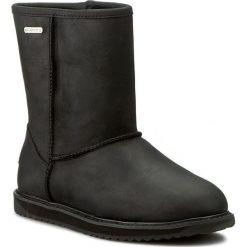 Buty EMU AUSTRALIA - Paterson Leather Lo W11349 Black. Czarne kozaki damskie Emu Australia, ze skóry. W wyprzedaży za 539.00 zł.