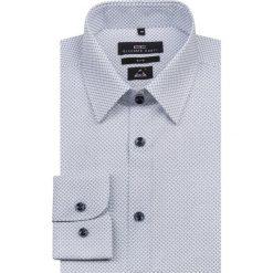Koszula SIMONE KDNS000150. Białe koszule męskie Giacomo Conti, na lato, w geometryczne wzory, z bawełny. Za 259.00 zł.
