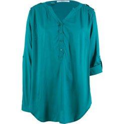 Tunika, długi rękaw bonprix kobaltowo-turkusowy. Niebieskie tuniki damskie bonprix, z długim rękawem. Za 74.99 zł.