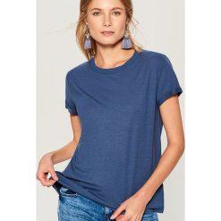 Koszulka oversize - Niebieski. Niebieskie bluzki damskie Mohito. Za 29.99 zł.